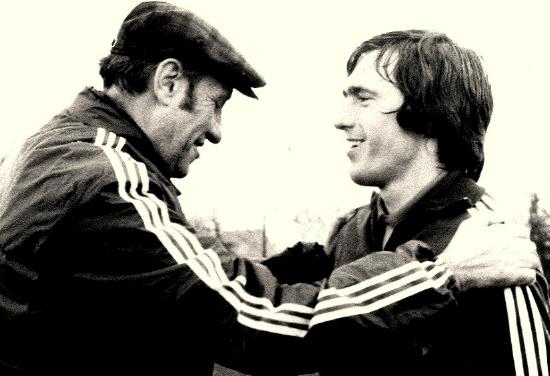 Helmut Schön mit mir beim Training der DFB-Auswahl