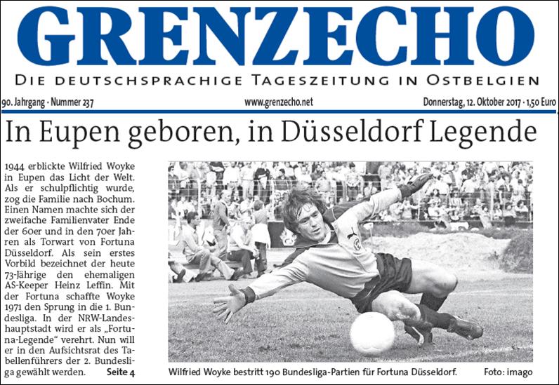 - Grenzecho (10. Okt 2017) - In Eupen geboren, in Düsseldorf LegendeLink: http://www.grenzecho.net/sport/fussball/divers/die-fortuna-legende-aus-eupen