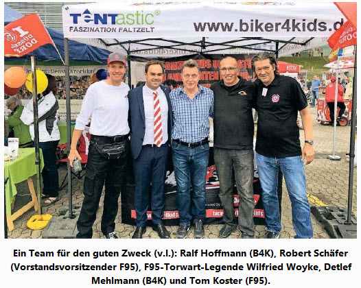 - BIKER4KIDS - Rheinische Post (07. Juni 2018) - Fortuna 95 ist erneut SchirmherrinLink:https://www.pressreader.com/germany/rheinische-post-duesseldorf-meerbusch/20180607/282351155469471/textview