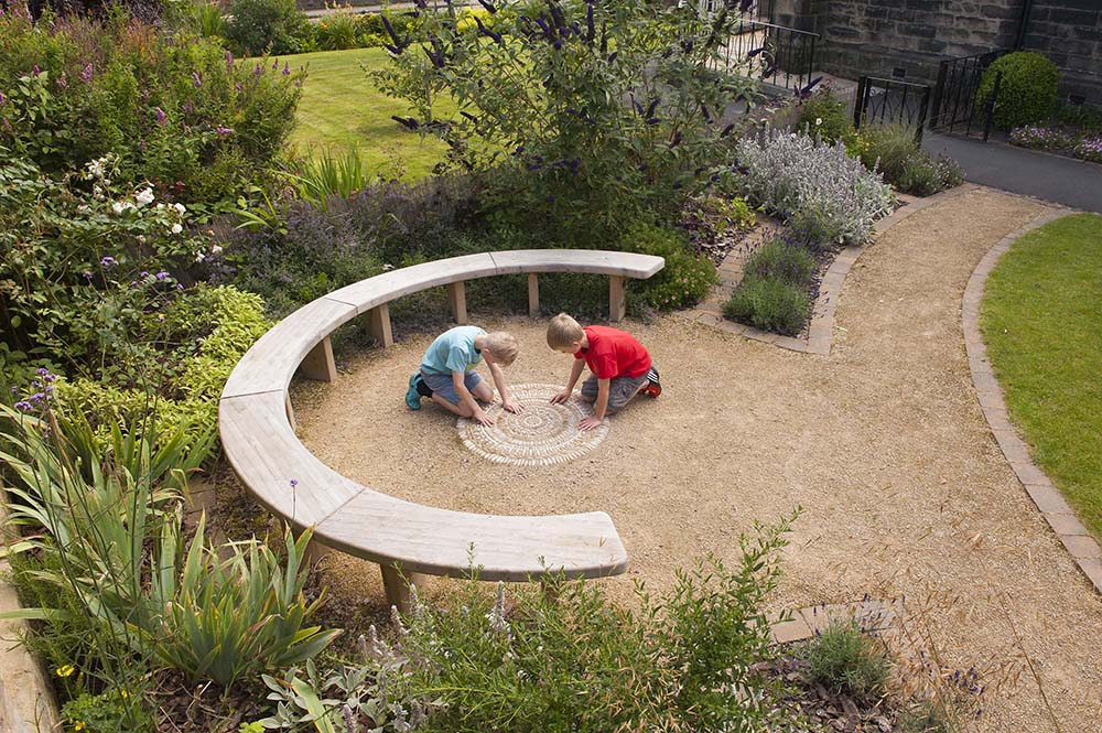 Garden of Creation, a Sensory Garden at the pre-school nursery, Little School at the Methodist Church, Burley in Wharfedale.