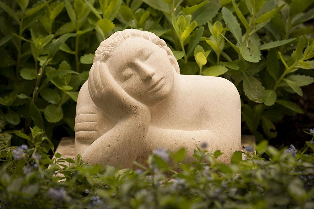 Sculpture garden to a large Victorian semi in Ilkley.