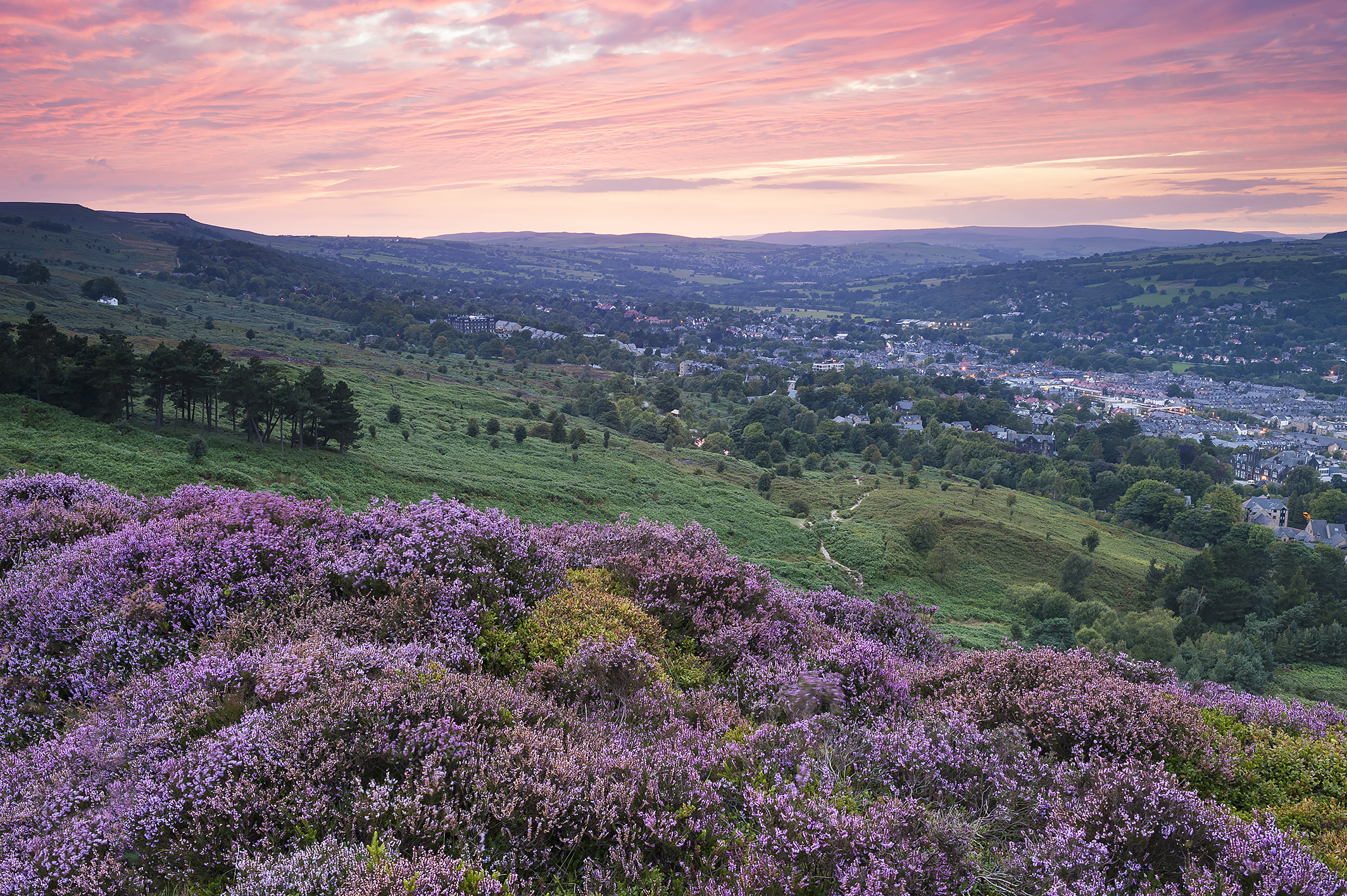 Ilkley from the Cow and Calf Rocks. Photo: Ian Lamond Photography