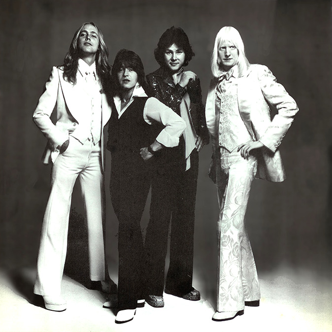 The Edgar Winter Group, from left: Chuck Ruff, Rick Derringer, Dan Hartman, Edgar Winter