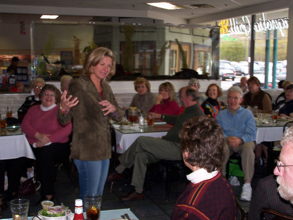 Bestseller Lisa Scottoline talks to our group at Chester County Books in West Chester, PA.