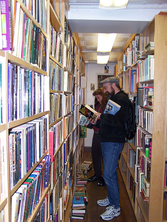 Some of our Bookstore Tourists at Twelfth Street Books in the Village