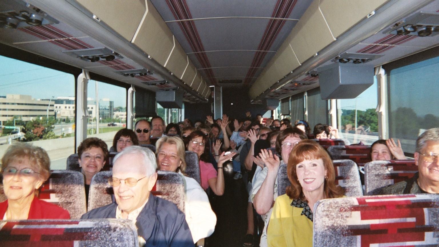 Our happy Bookstore Tourists on the way home from NYC!
