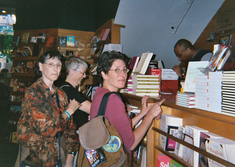 Checking out at Shakespeare & Co. in the Village