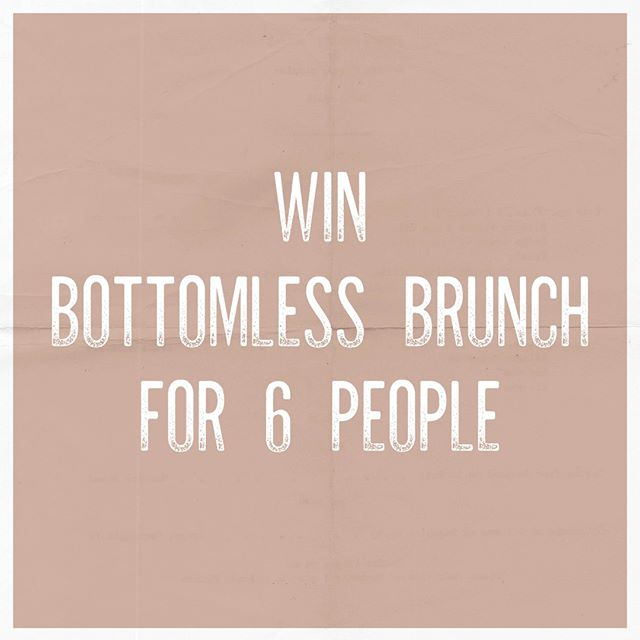 🚨COMPETITON TIME🚨  Fancy winning Bottomless Brunch for you and FIVE others? We thought so... 🥂  What you've gotta do:  1- Follow us  2- Like this post  3 - Tag your 5 brunch buddies  4 - Share on your story and tag us!  Comp closes Friday 13th and the winner will be announced on Monday 16th.. GOOD LUCK 🤞🏻