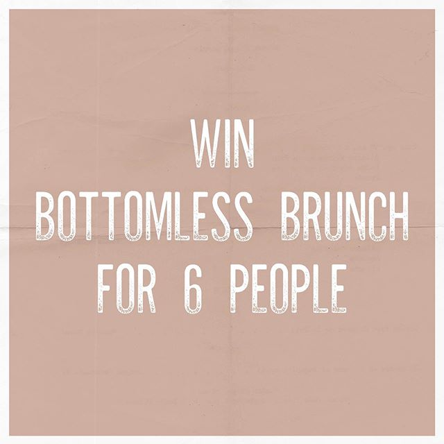 ⏱ Last chance to enter guys and gals ⏱🚨COMPETITON TIME🚨 Fancy winning Bottomless Brunch for you and FIVE others? We thought so... 🥂 What you've gotta do: 1- Follow us 2- Like this post 3 - Tag your 5 brunch buddies 4 - Share on your story and tag us! Comp closes Friday 13th and the winner will be announced on Monday 16th.. GOOD LUCK 🤞🏻