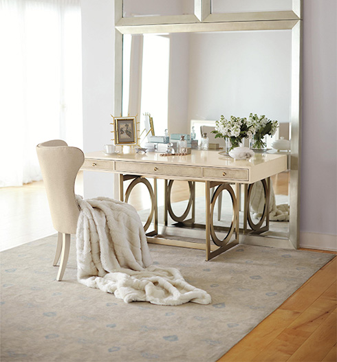 Bernhardt-Salon-Desk-with-Metal-Base-Belfort-Furniture