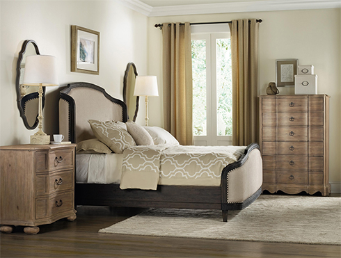 Corsica Collection by Hooker Furniture with Two Toned Bedroom