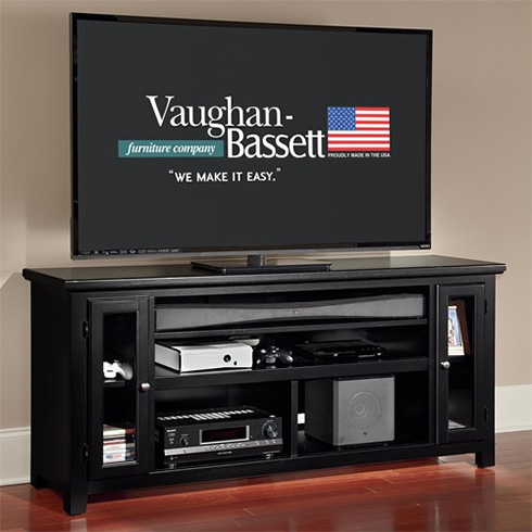 Solid Wood Entertainment Console at Belfort Furniture