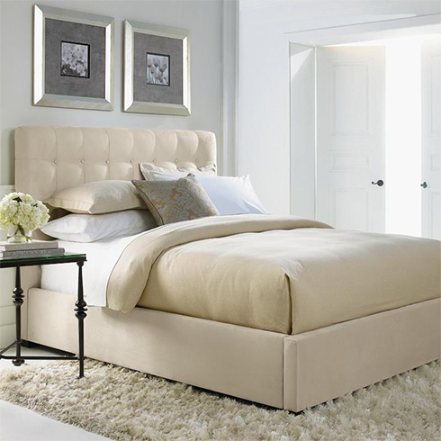 Avery Upholstered Bed by Bernhardt at Belfort Furniture