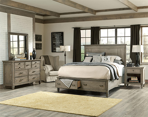 Brownstone Village Bedroom at Belfort Furniture