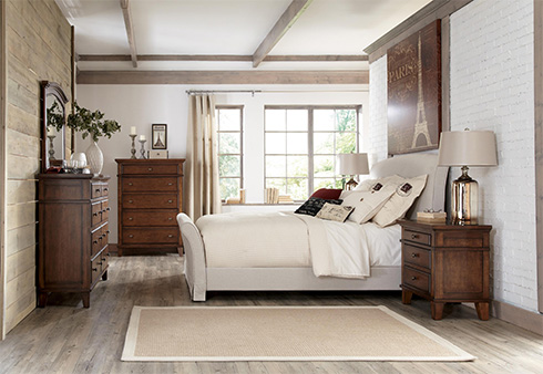 Burke Upholstered Slipcover Bed at Belfort Furniture