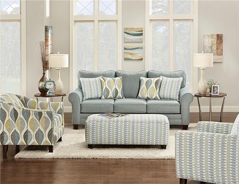 Candy Sofa in Blue at Belfort Furniture