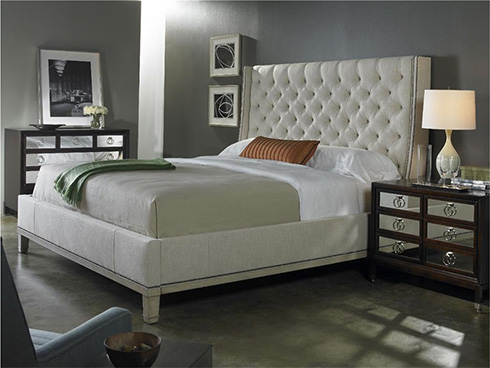 Cleo Upholstered Bed by Vanguard at Belfort Furniture