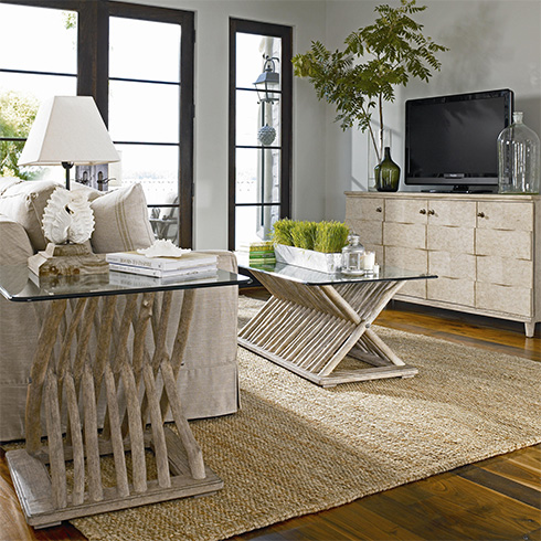 Coastal Living Driftwood Living Room at Belfort Furniture