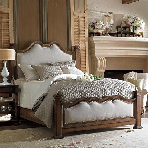 European Farmhouse Upholstered Bed at Belfort Furniture