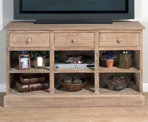 Light Driftwood Media Unit at Belfort Furniture