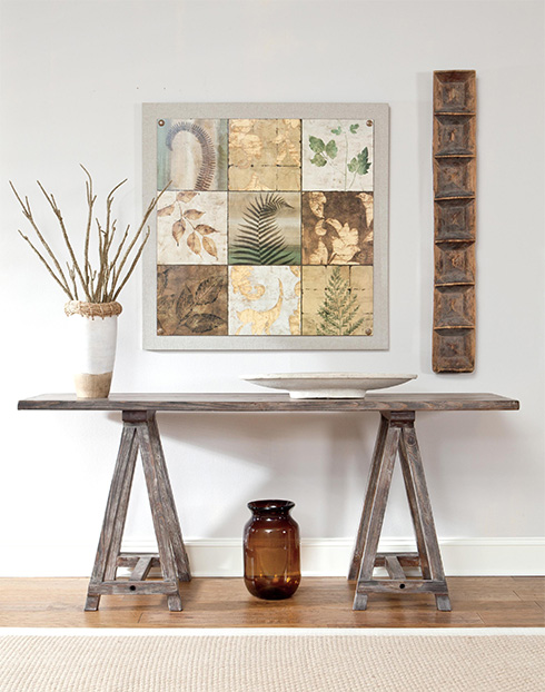 Rustic Driftwood Console Table at Belfort Furniture