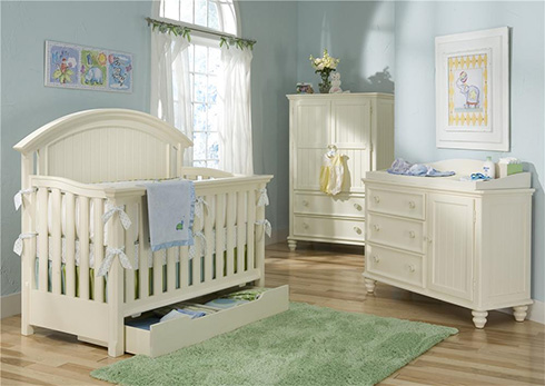 Summer Breeze Nursery Storage at Belfort Furniture