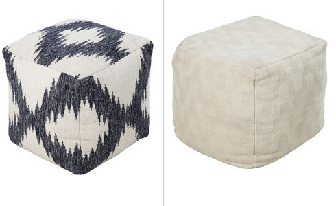 Surya Poufs at Belfort Furniture Virginia