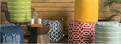 Surya Poufs at Belfort Furniture