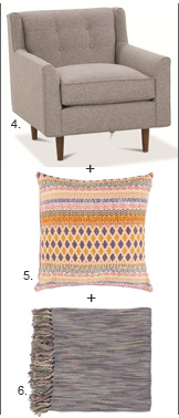 Chair + Pillow + Throw 4,5,6