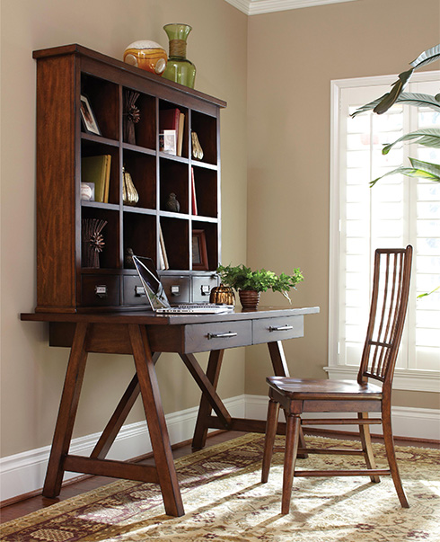 Blue Ridge Desk and Hutch by Easton Collection