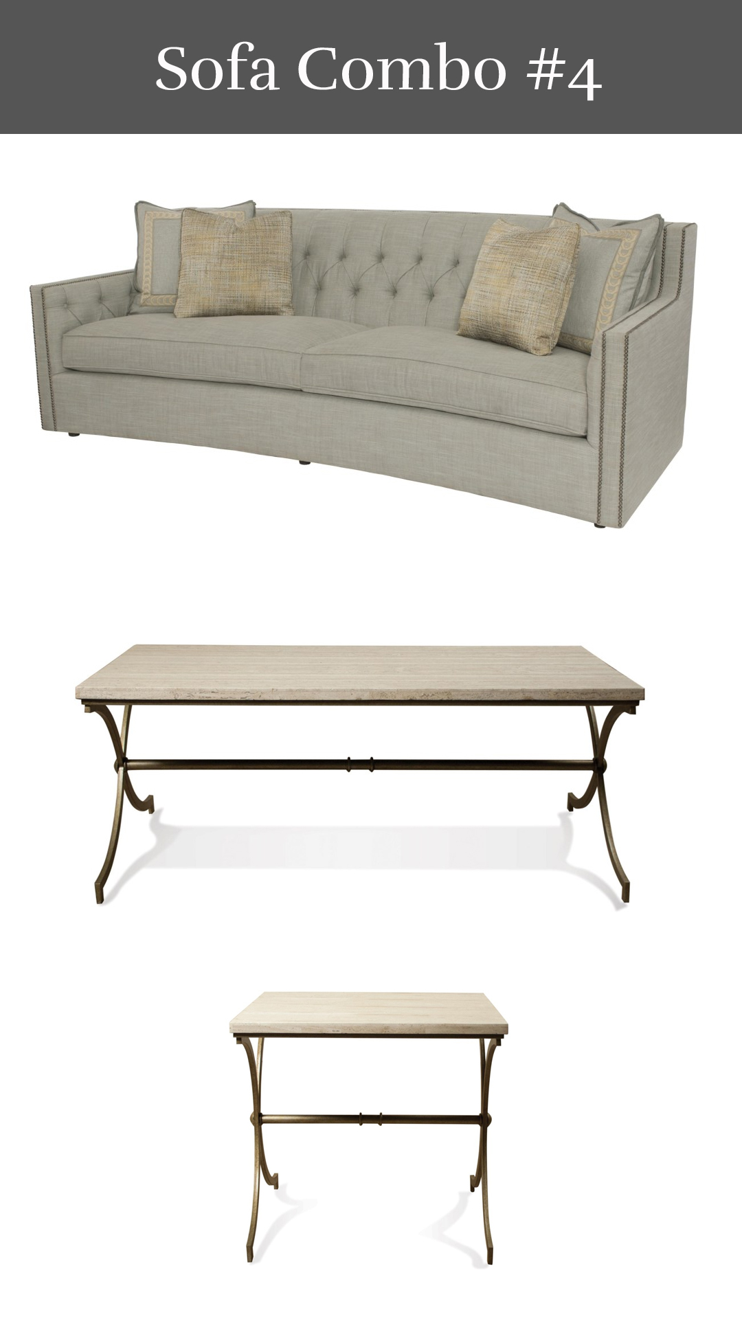 Designer's Delight - Candace Sofa + Elan Cocktail Table & End Table