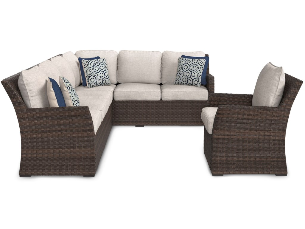 Sandpiper Outdoor 2-Piece Sectional & Lounge Chair Set