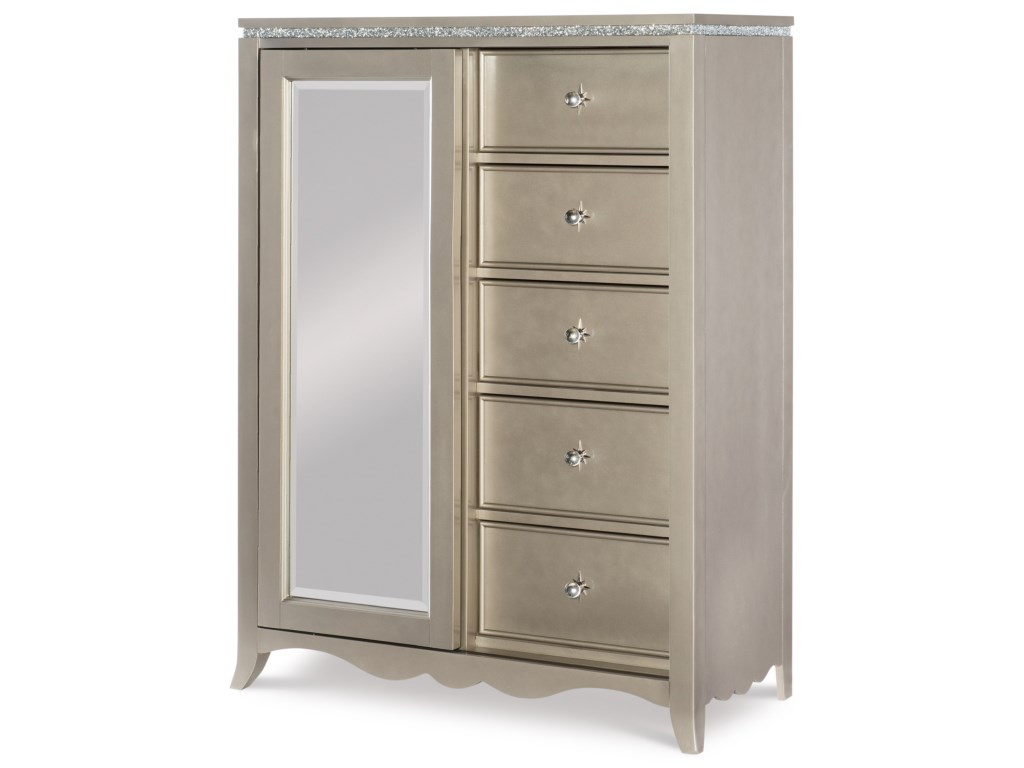 5 Drawer Chest With Sliding Mirror