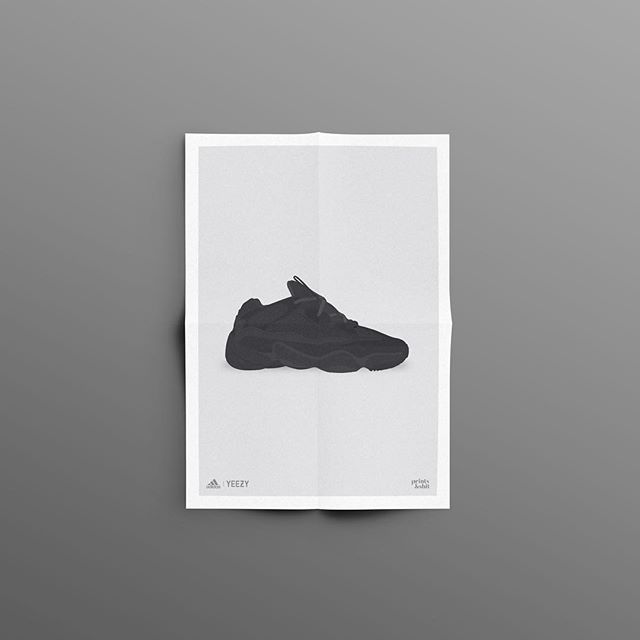 Got ahead of myself. Finished up the Yeezy 500 Utiliy Black. Print up for sale on www.printsandshit.com