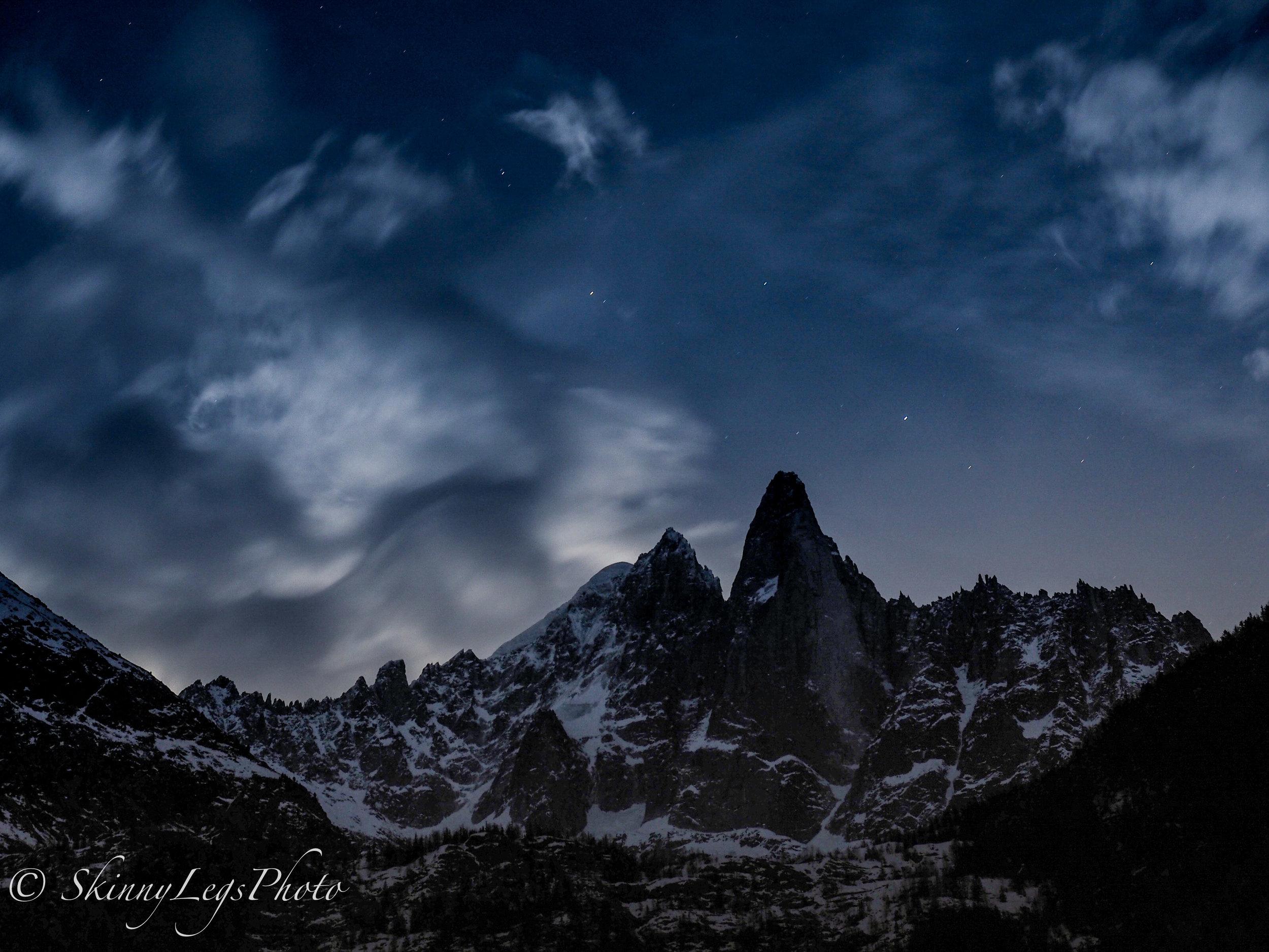 Les Drus at Night