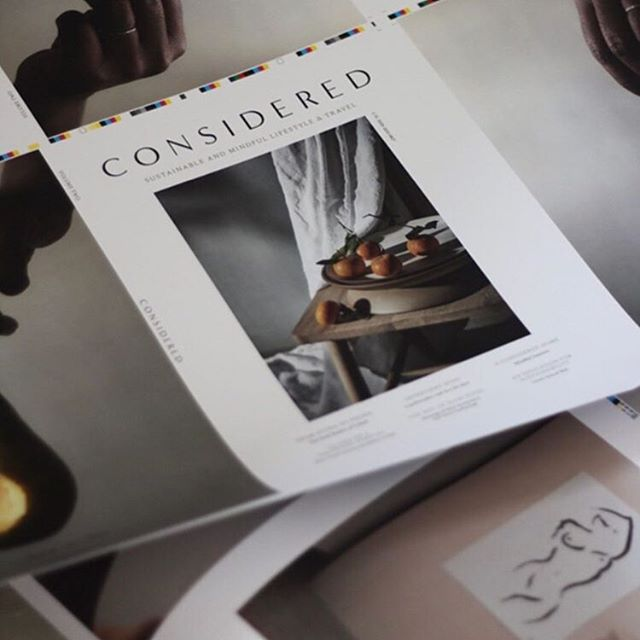 Very excited to see the finished version of @consideredmag that I worked on earlier this month. Couldn't recommend it more - insightful articles, beautiful imagery, amazing travel guides - really is worth a read. Available for preorder, more info over on the @consideredmag page ♡ ~ #consideredmag #designwork #magazine #sustainableliving #reveriestudio