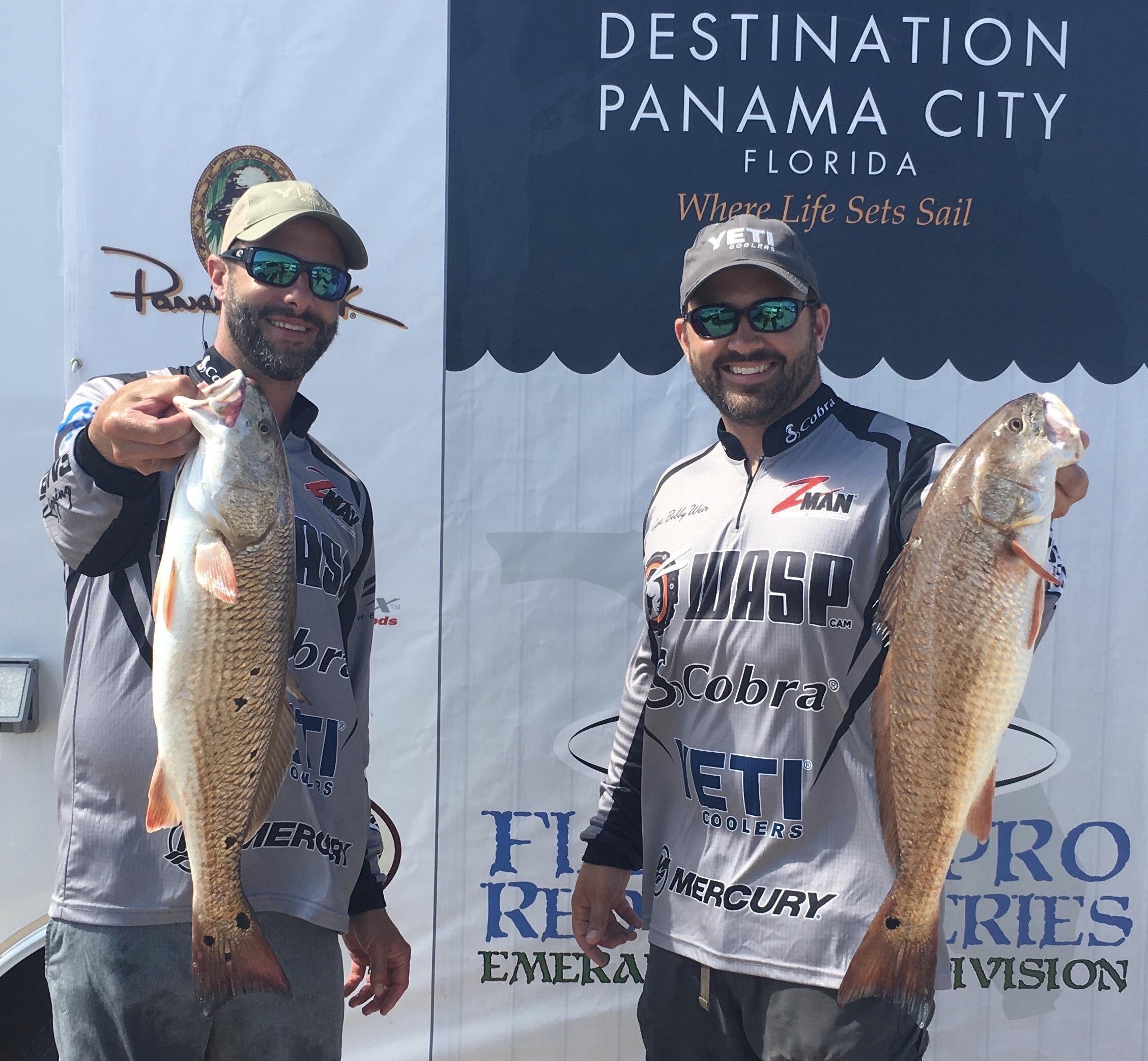 Local anglers Matt Schoen (l) and Bobby Weir (R) of Santa Rosa Beach, Florida
