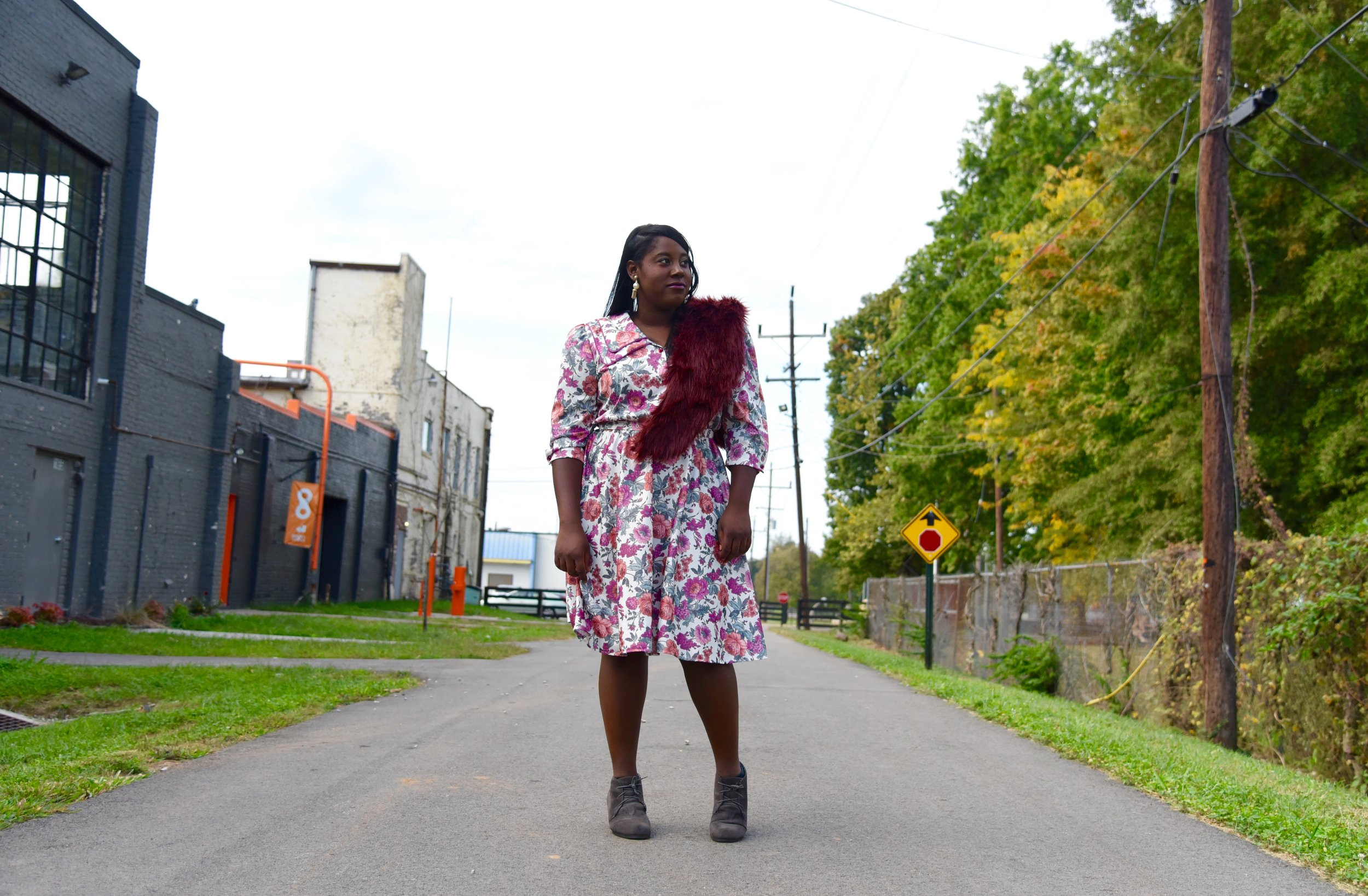 The Violent Patterned Floral Dress.