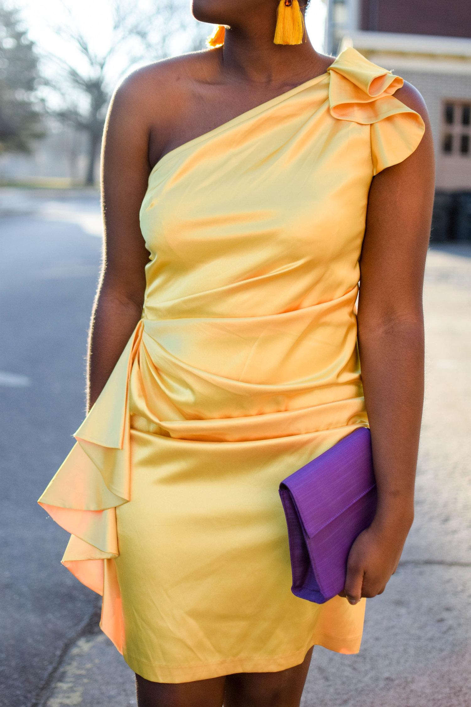 The Stunning Canary Yellow Dress.