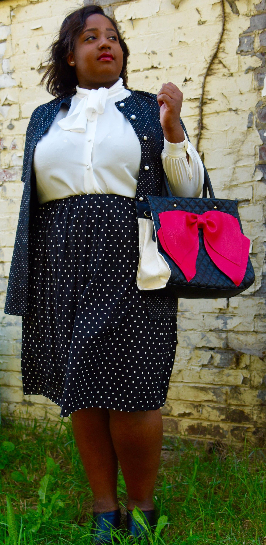 Black and White Polka Dot Skirt.