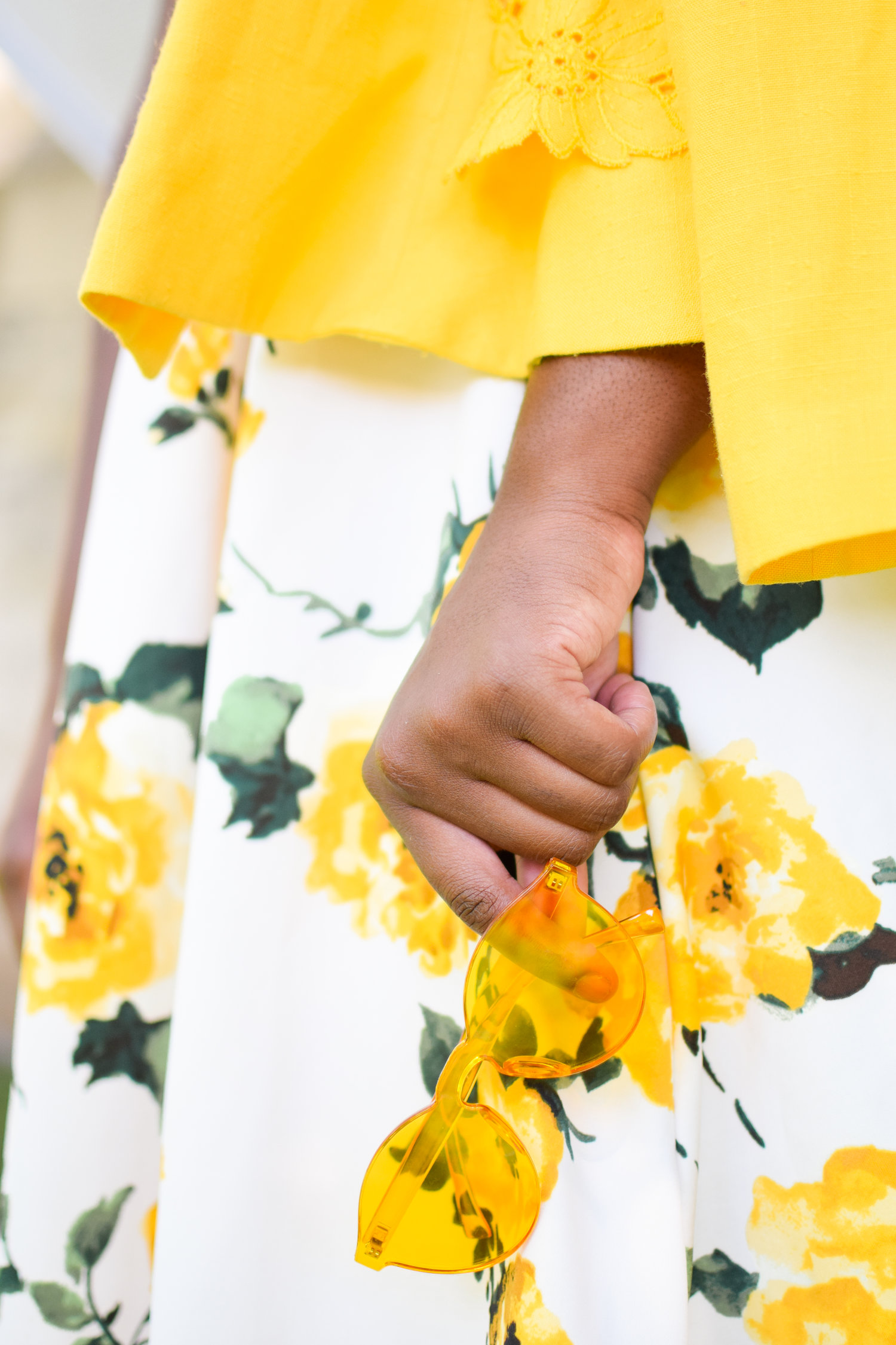 Yellow Galore Floral Skirt