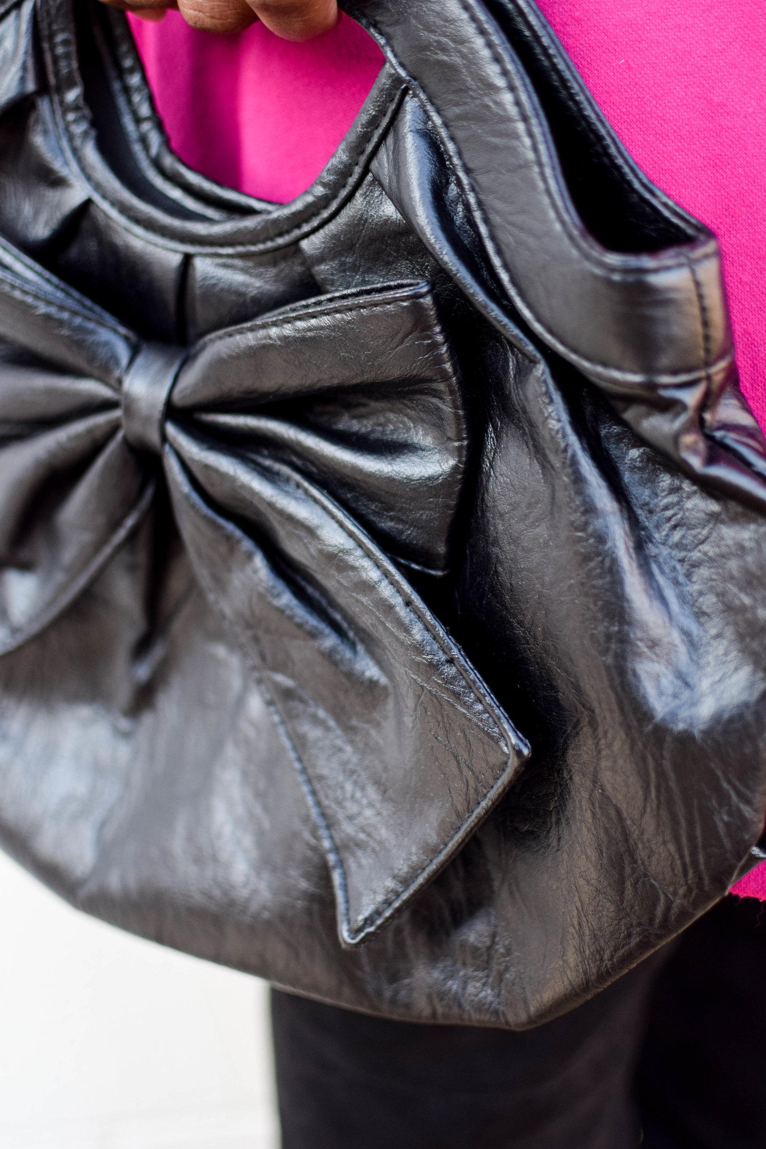 The Bold Black Bowtie Handbag.