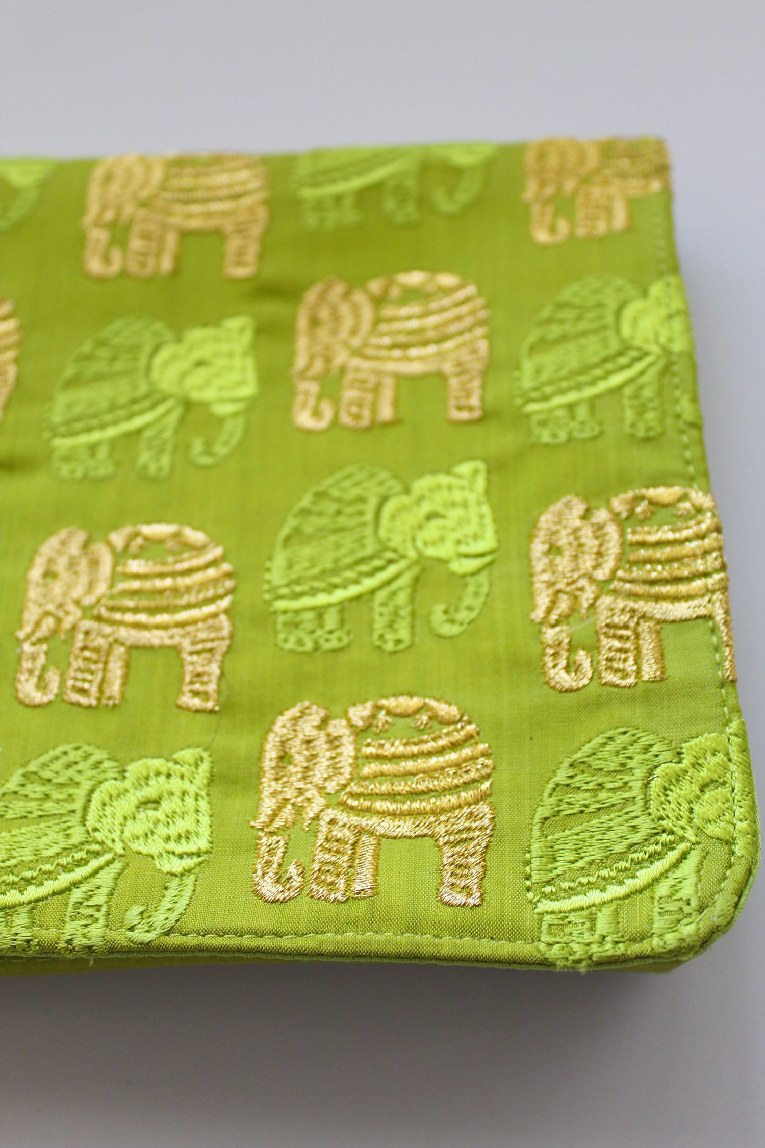 The Lime Green and Yellow Elephant Clutch.