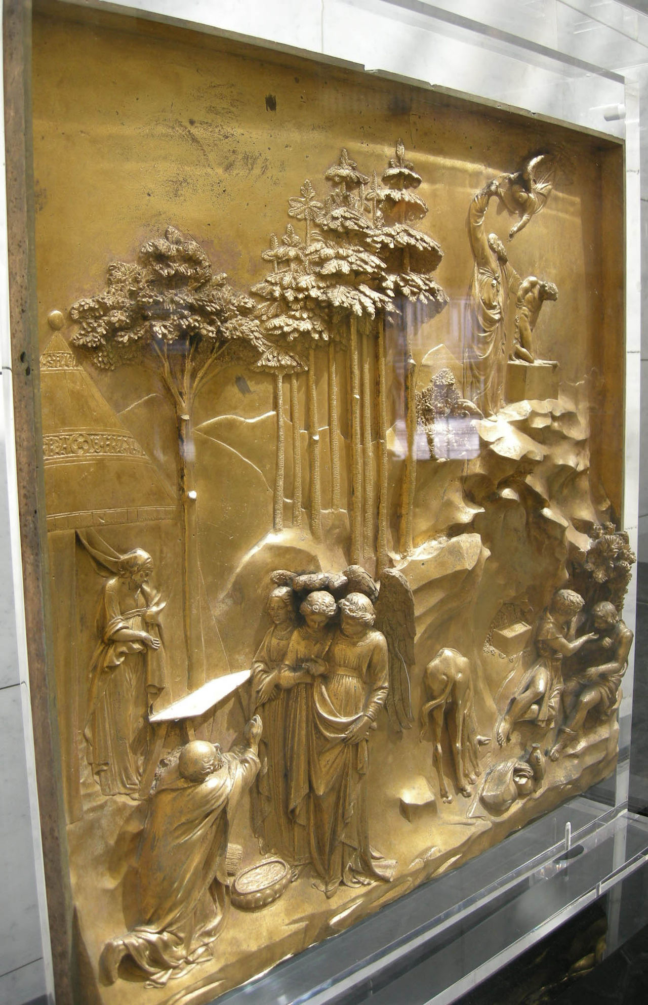 Angel view from  Ghiberti's  bronze doors of the Florence Baptistry.