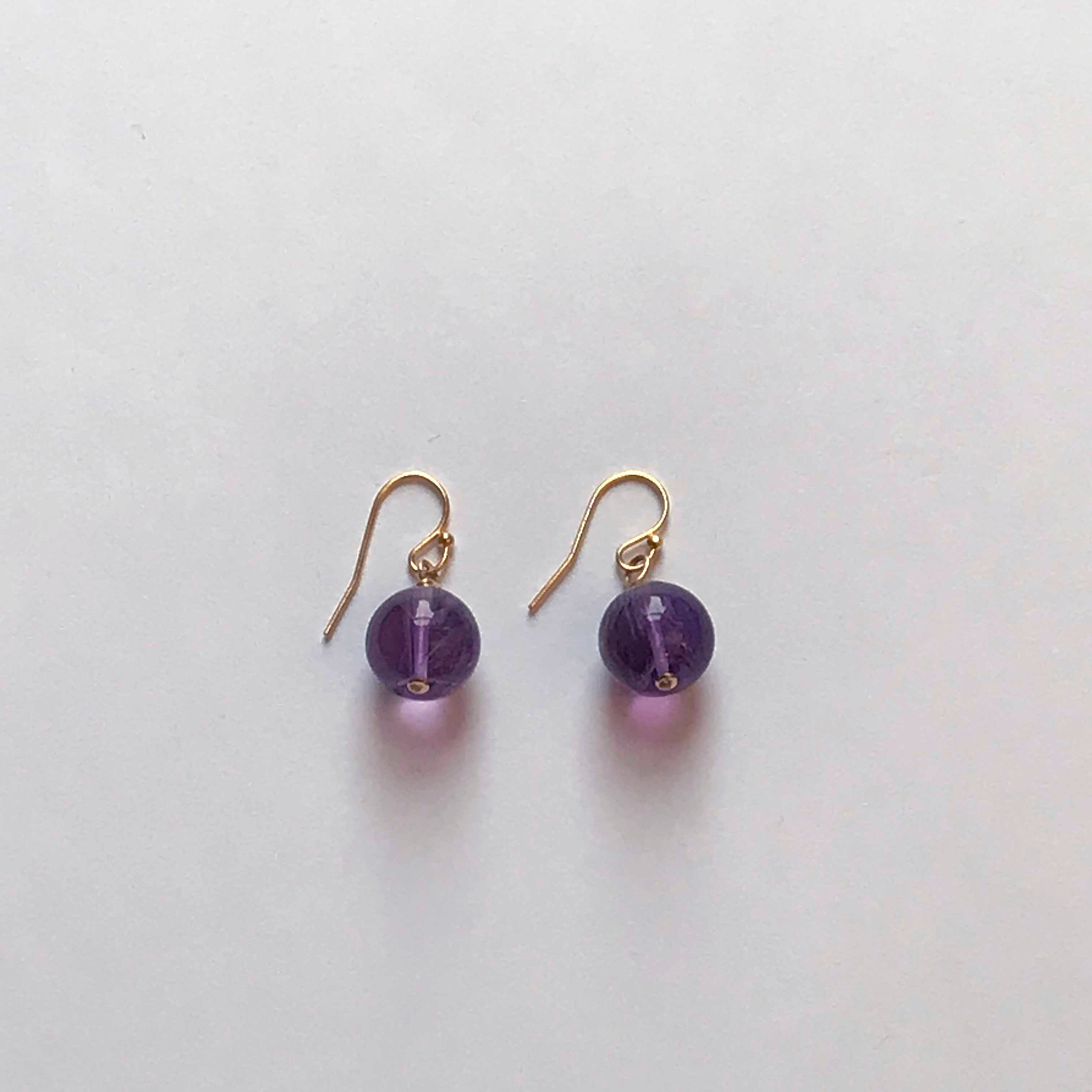 $50 Gold Filled Amethyst Earrings