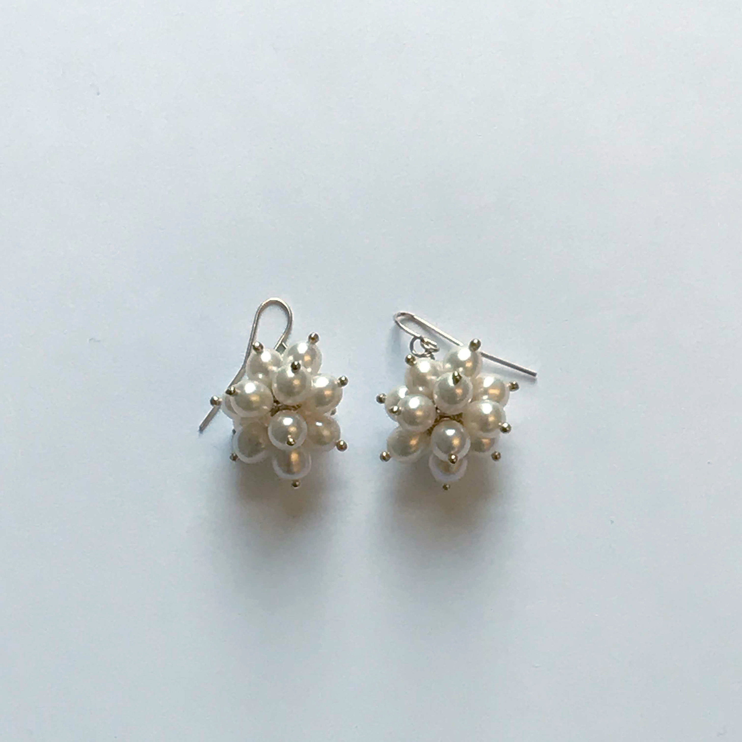 $350 Gold Filled Cream Fresh Water Pearl Earrings