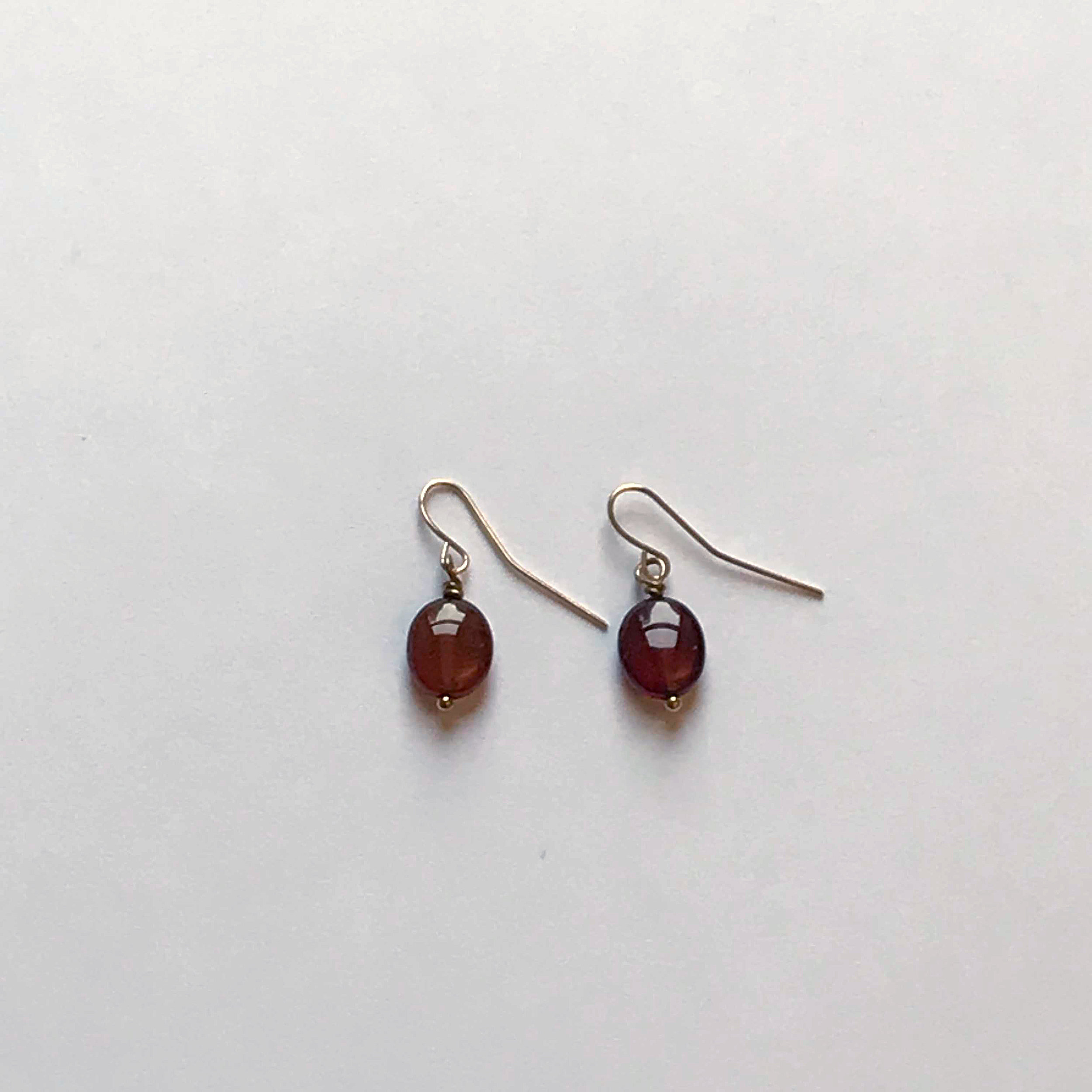 $75 Gold Filled Garnet Earrings