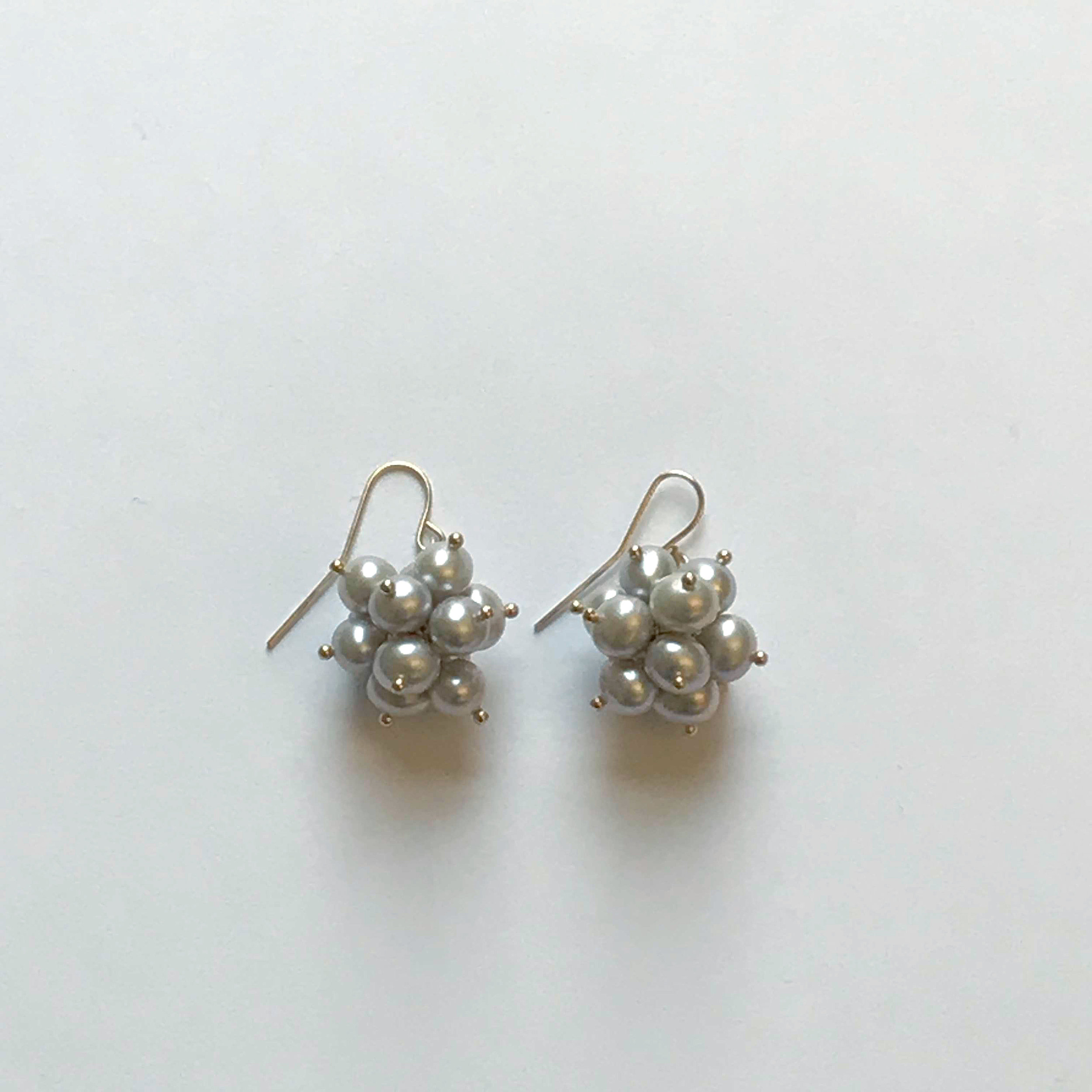 $350 Gold Filled Grey Fresh Water Pearl Earrings