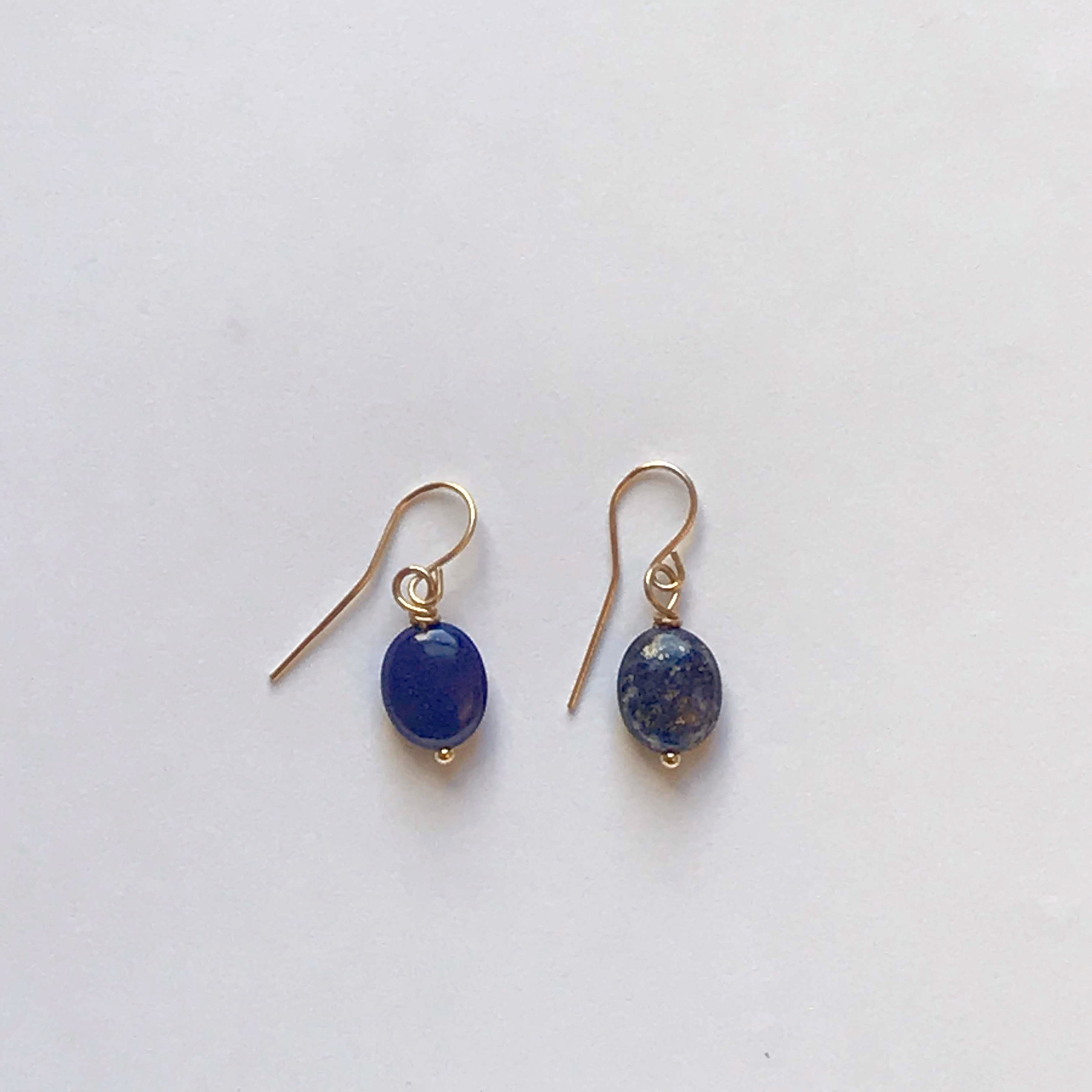 $75 Gold Filled Lapis Earrings