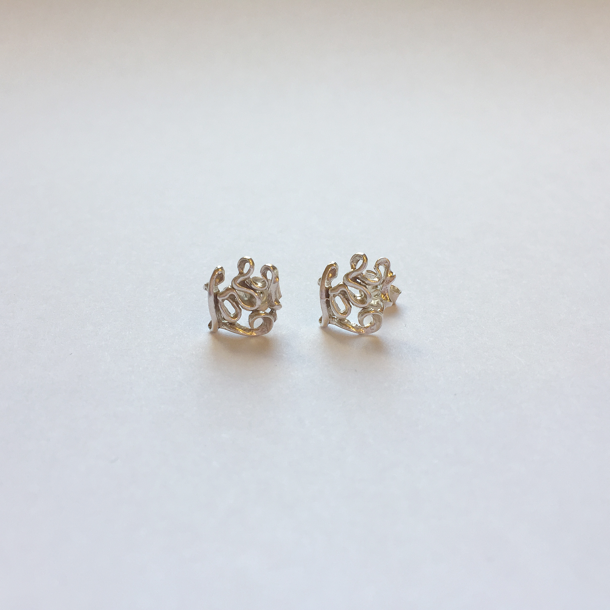 $50 Sterling Silver Love Earrings
